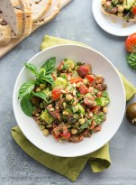 Pesto Tomato Chickpea Salad