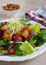 Thai Salad with Pineapple BBQ Tofu